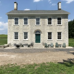 The house, built in 1824. The walls are 2' thick limestone.